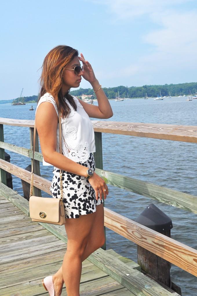 overlooking pier