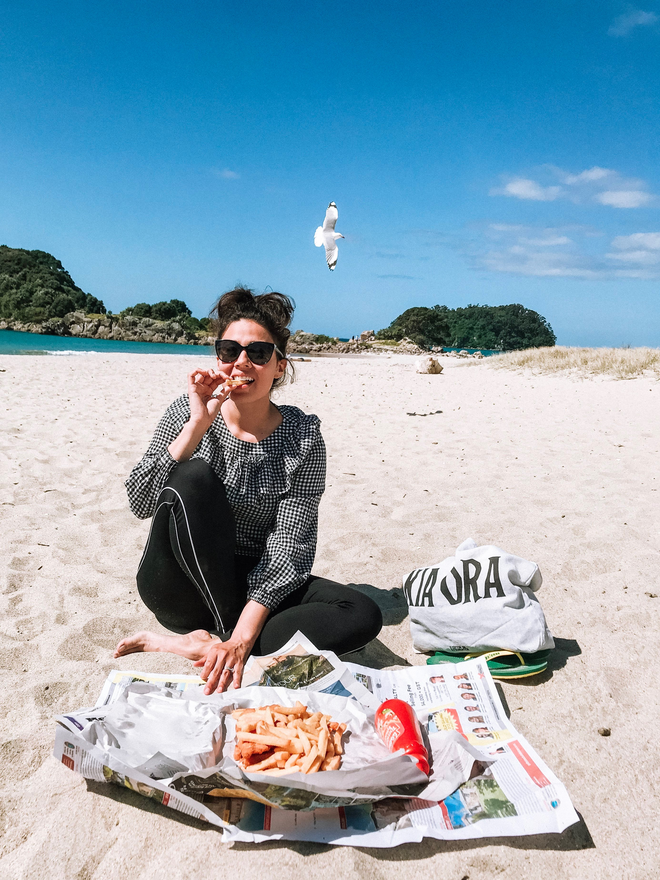 fishnchips, nature, beach, kiaora