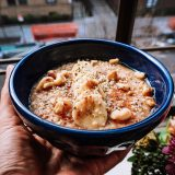 banana walnut, oatmeal, recipe, food, plant based,