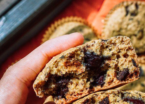 whole foods plant based dark chocolate cherry muffin