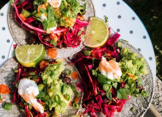 delicious plant based tacos colorful food healthy